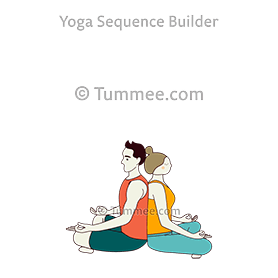 easy pose partner yoga sukhasana partner  yoga