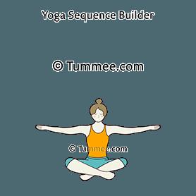 easy pose variation arms out yoga sukhasana variation
