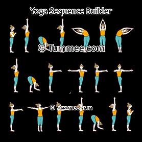 sun salutation yoga surya namaskar  yoga sequences