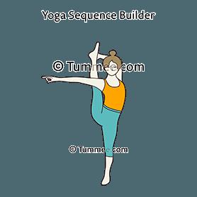 extended standing split pose yoga utthita