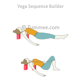 supine easy pose on blocks yoga supta sukhasana on blocks