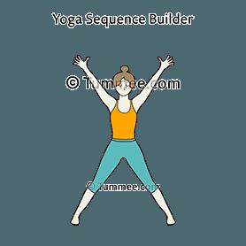 five pointed star pose yoga utthita tadasana  yoga