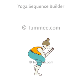 eagle pose yoga garudasana  yoga sequences benefits