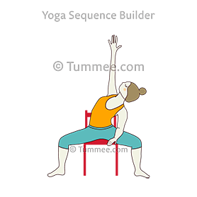 moon flowers pose yoga chandra pushp  yoga sequences