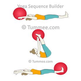 Half Boat Pose Flow With Ball (Ardha Navasana Vinyasa Ball)