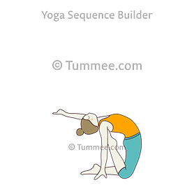 Half Camel Pose Variation Raised Toe (Ardha Ustrasana Variation Raised Toe)