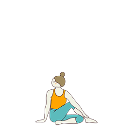 Half Lord Of The Fishes Pose Variation Hand Down (Ardha Matsyendrasana Variation Hand Down)