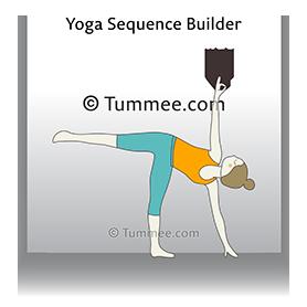 figure skater pose yoga pada vakra trikonasana  yoga