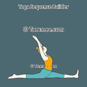 Splits Pose Yoga Front