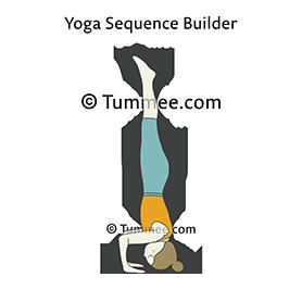 headstand ii yoga sirsasana ii  yoga sequences