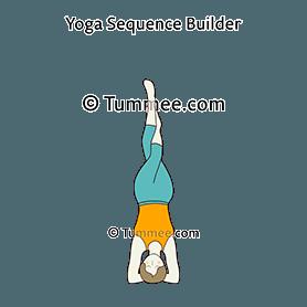 headstand pose eagle legs yoga salamba sirsasana pada