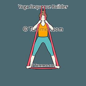 mountain pose arms 45 degrees yoga tadasana arms 45