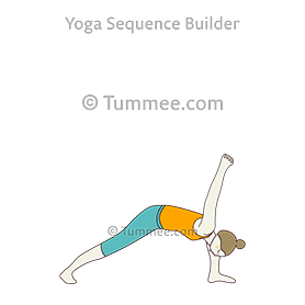 humble warrior pose baddha virabhadrasana yogasequences