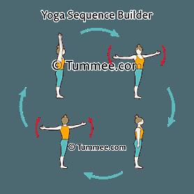 mountain pose arms out twist flow yoga tadasana arms out