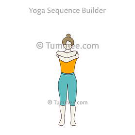 mountain pose eagle arms beginners variation yoga