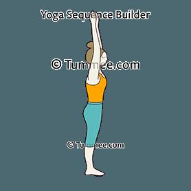 mountain pose raised hands head straight yoga tadasana