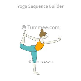 dancer pose yoga king dancer pose  yoga sequences