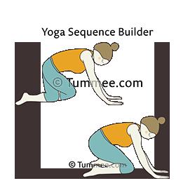 prenatal cow pose variation yoga prenatal bitilasana