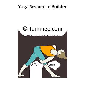 revolved bound triangle pose yoga parivrtta baddha