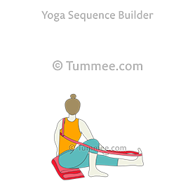 sage twist pose b yoga marichyasana b  yoga sequences