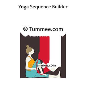 revolved staff pose yoga parivrtta dandasana  yoga