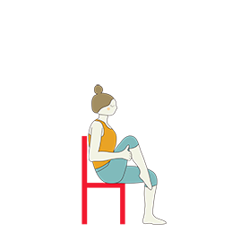 Seated Low Lunge Variation Chair (Anjaneyasana Variation Chair)