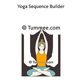 seated mountain pose yoga parvatasana  yoga sequences