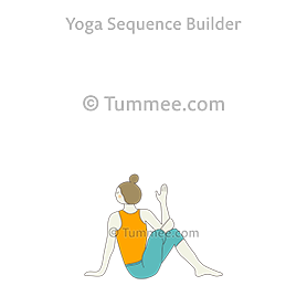 reverse pigeon pose yoga sucirandhrasana  yoga