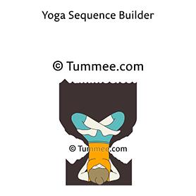 side one legged shoulderstand pose yoga parsvaika pada