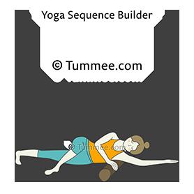 reclined one armed auspicious pose a yoga supta eka bhuja