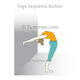Standing Backbend Pose Hands On Wall (Anuvittasana Hands On Wall)