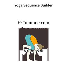 standing forward fold pose knee to armpit yoga uttanasana