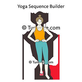 standing hip flexion extension pose block yoga  yoga