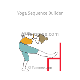 standing leg stretch chair pose yoga ardha hanumanasana