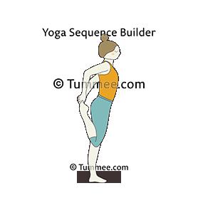 standing quad stretch pose yoga  yoga sequences benefits