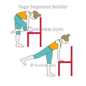 Standing Table Top Pose With Knee To Nose Flow Chair (Tada Bharmanasana Knee To Nose Vinyasa Chair)