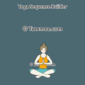 sukhasana yoga easy pose  yoga sequences benefits