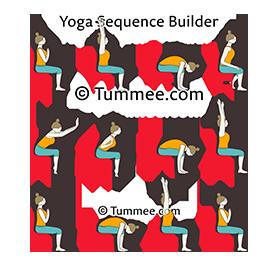 sun salutation variation sitting on chair b yoga surya
