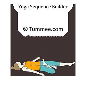 supine half lotus pose yoga supta ardha padmasana  yoga
