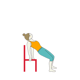 Supported Chair Camel Pose (Salamba Chair Ustrasana)