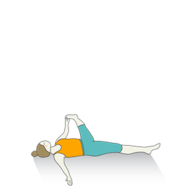 Reclined Big Toe Pose B (Supta Padangusthasana B)