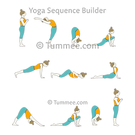 sun salutation yoga surya namaskar  yoga sequences