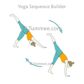 three legged downward facing dog pose kick flow yoga tri