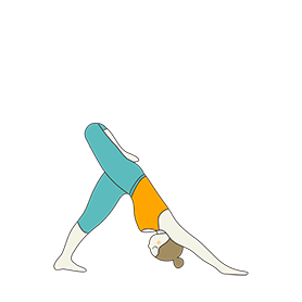 Three Legged Downward Facing Dog Pose Variation Stacked (Tri Pada Adho Mukha Svanasana Variation Stacked)