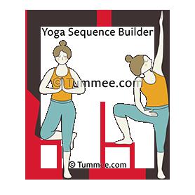 tree pose chair yoga vrksasana chair  yoga sequences