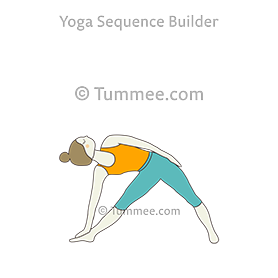 revolved triangle pose hand on hips yoga parivrtta