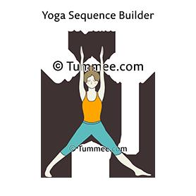 bound triangle pose yoga baddha trikonasana  yoga