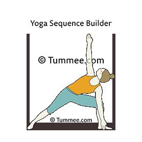 triangle pose variation bent knee yoga trikonasana
