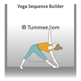 triangle pose wall yoga utthita trikonasana wall  yoga