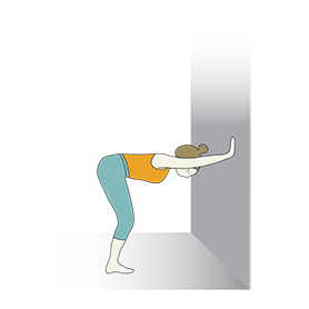 Upward Forward Fold Wall (Ardha Uttanasana Wall)